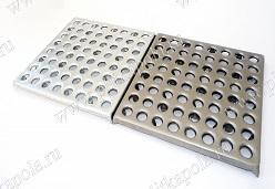 Напольная металлическая плитка 64 анкера с покрытием цинком