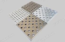 Напольная металлическая плитка 32 анкера оцинкованная